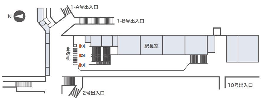 肥後橋ネットワークビジョン掲出位置図