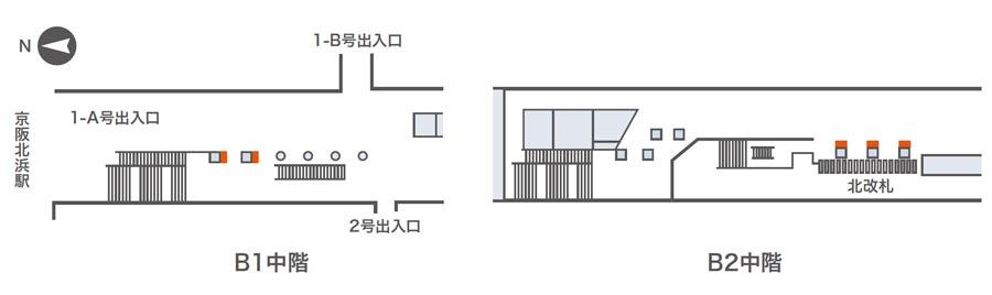 北浜ネットワークビジョン掲出位置図