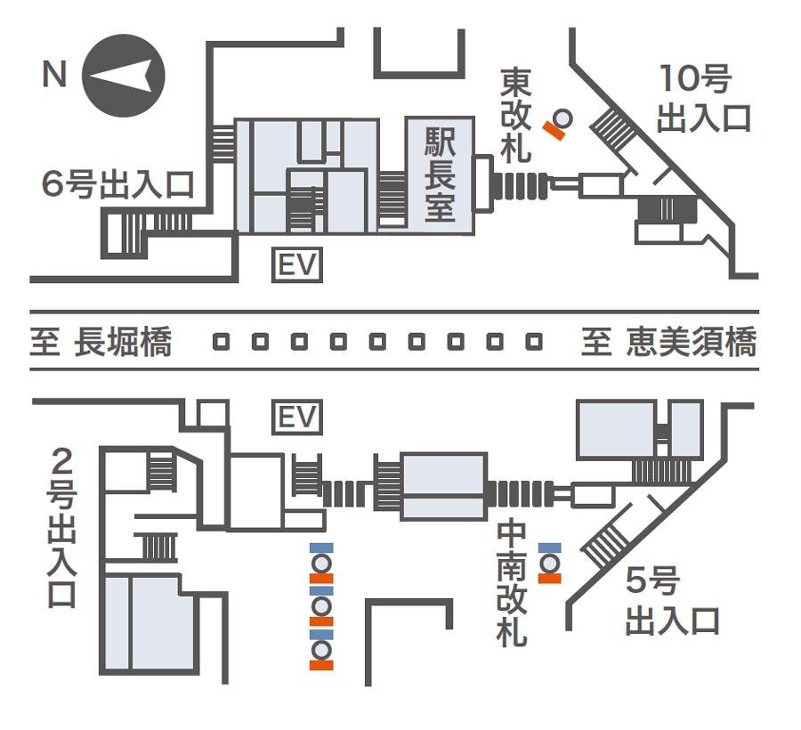 日本橋ネットワークビジョン掲出位置図