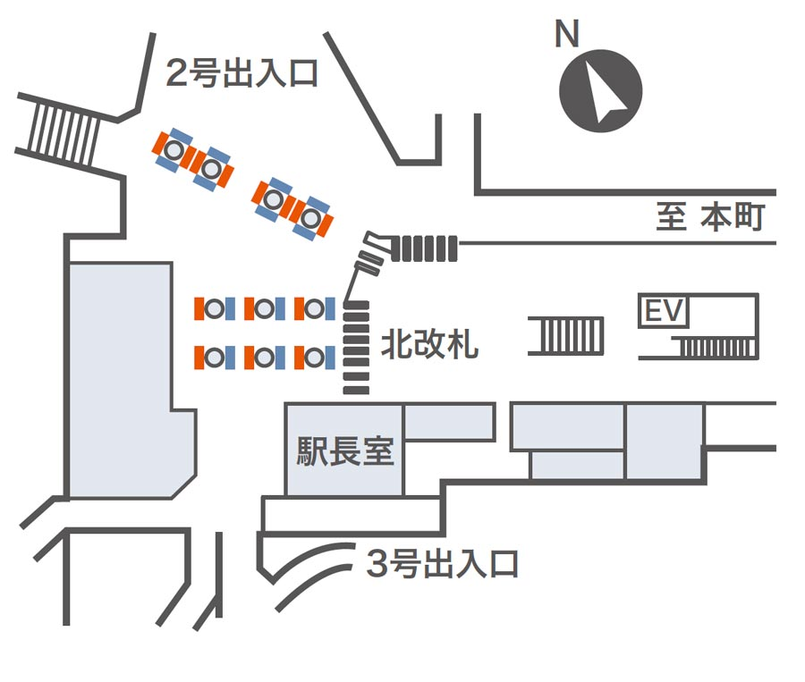 淀屋橋ネットワークビジョン掲出位置図