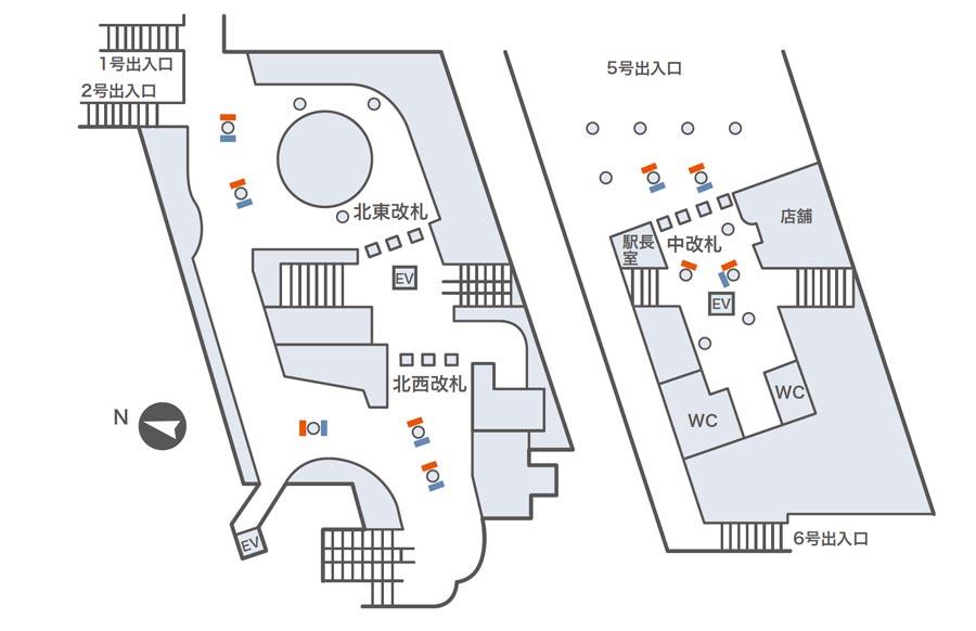 新大阪ネットワークビジョン掲出位置図
