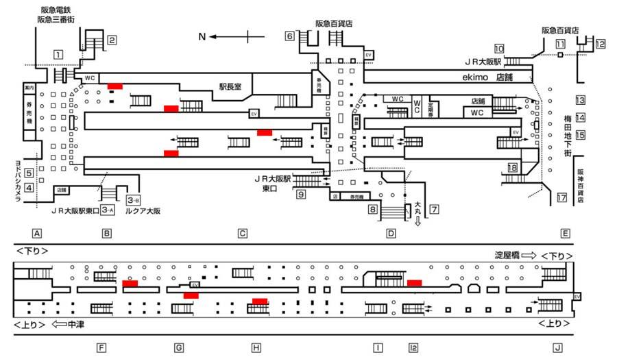 梅田セット16掲出位置図