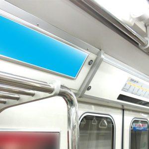 Osaka Metro今里筋線ドア上ポスター写真