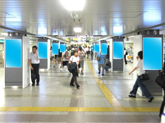 大阪メトロ梅田コンコースビジョン写真
