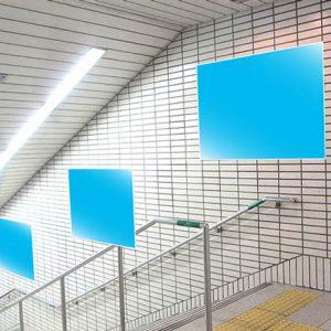 Osaka Metro心斎橋駅臨時集中貼り写真