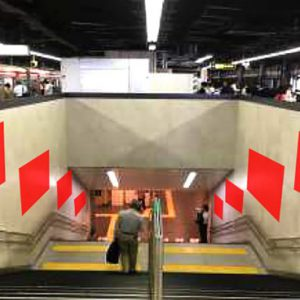 Osaka Metro新大阪臨時集中貼り写真