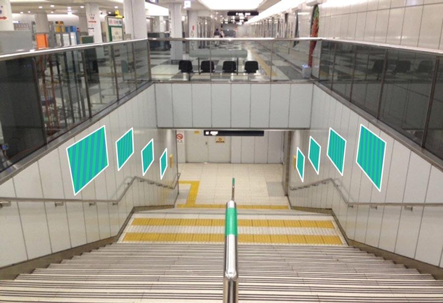 大阪メトロドーム前臨時集中貼り写真