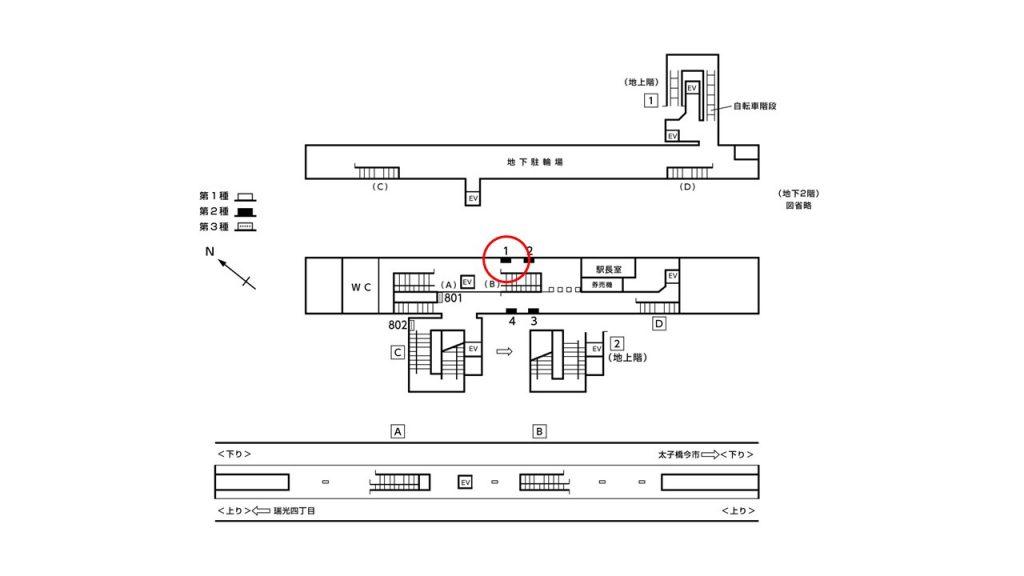だいどう豊里駅構内図2-1