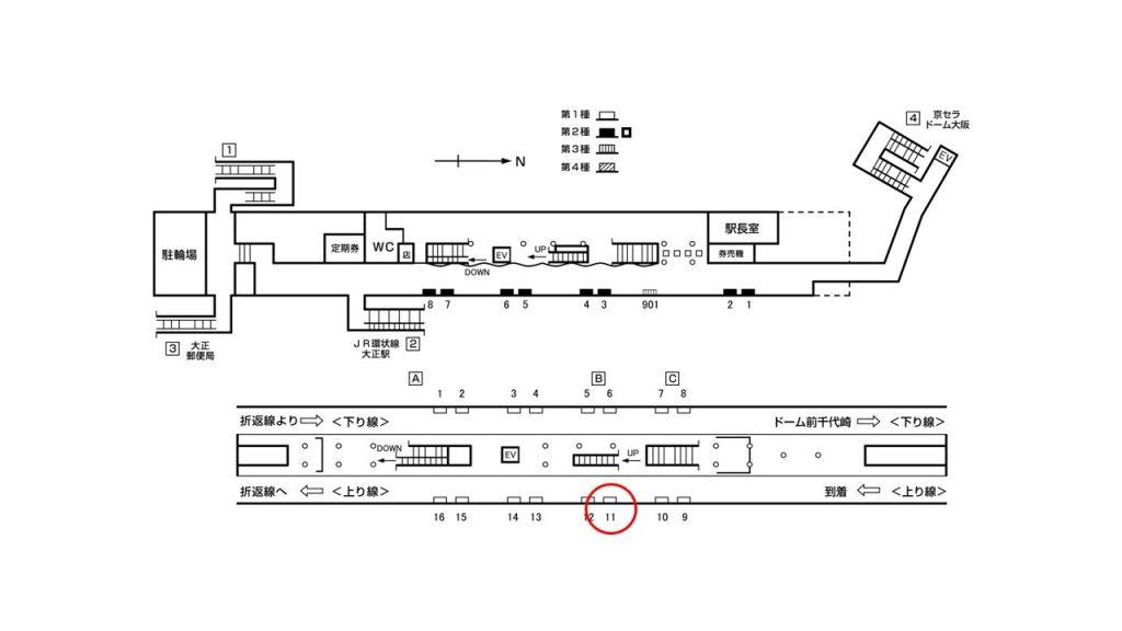 大正駅構内図1-11