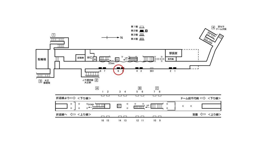大正駅構内図2-6