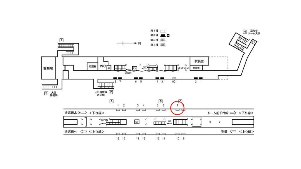 大正駅構内図1-7